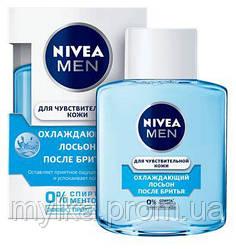 """Nivea 100 мл. Лосьон после бритья для чувствительной кожи, для мужчин """"Охлаждающий"""""""
