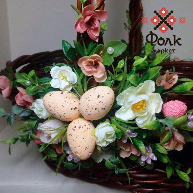 Пасхальная корзинка декорированная