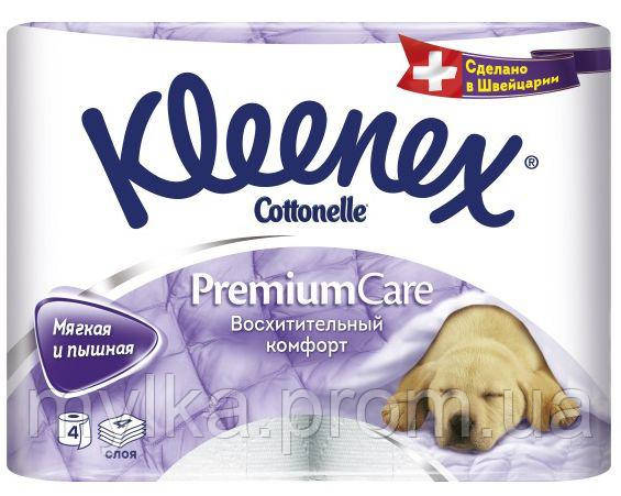 """Kleenex  4 шт. Туалетная бумага """"Premium Care"""""""