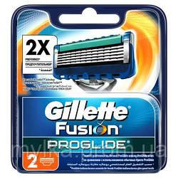 """Gillette 2 шт. Сменные картриджи для пятилезвийной бритвы """"Fusion ProGlide"""""""