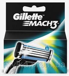 """Gillette 2 шт. Сменные картриджи для трехлезвийной бритвы """"Mach3"""""""