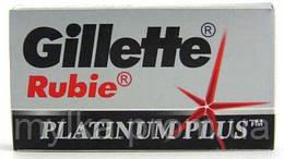 "Gillette 5 шт. Лезвия для бритвы ""Rubie. Platinum"". Двухсторонние"