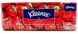 """Kleenex  10x10 шт. Носовые платочки """"Aroma. Клубника"""""""