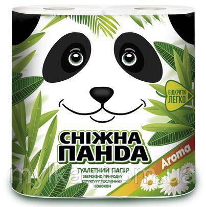"""Снежная панда 4 шт. Туалетная бумага """"Aroma"""""""