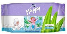 "Bella  56 шт. Детские влажные салфетки ""Baby Happy. Sensitive. Aloe Vera"". Экопак (56+56 шт)"
