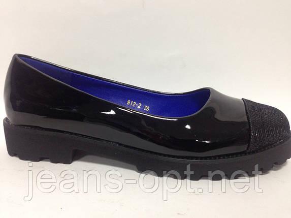 Туфли лаковые женские чёрные 912-2, фото 2