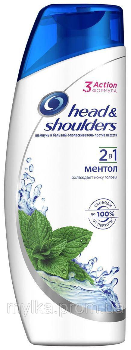 """Head & Shoulders  200 мл. Шампунь + бальзам ополаскиватель 2-в-1 """"Ментол"""""""