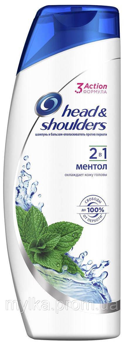 """Head & Shoulders  400 мл. Шампунь + бальзам ополаскиватель для мужчин 2-в-1 """"Ментол"""""""