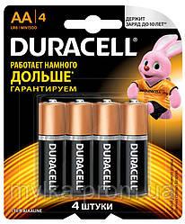 "Duracell 4 шт. Батарейки AA, 1.5 V ""Basic"". Алкалиновые, LR6"