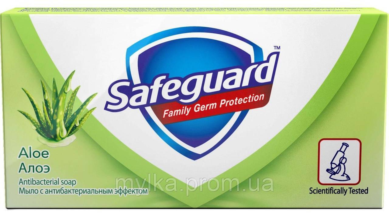 """Safeguard  90 г. Туалетное мыло """"Нежный уход. Алоэ"""". Антибактериальное"""