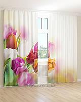 Фотошторы  3Д тюльпаны