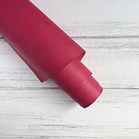 Шкірзамінник палітурний - матовий - малиновий VH081 - виробник Італія - 25х35 см