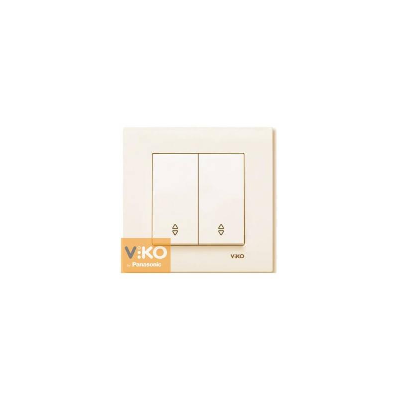 Переключатель проходной 2-х клавишный Viko Karre Крем 90960117