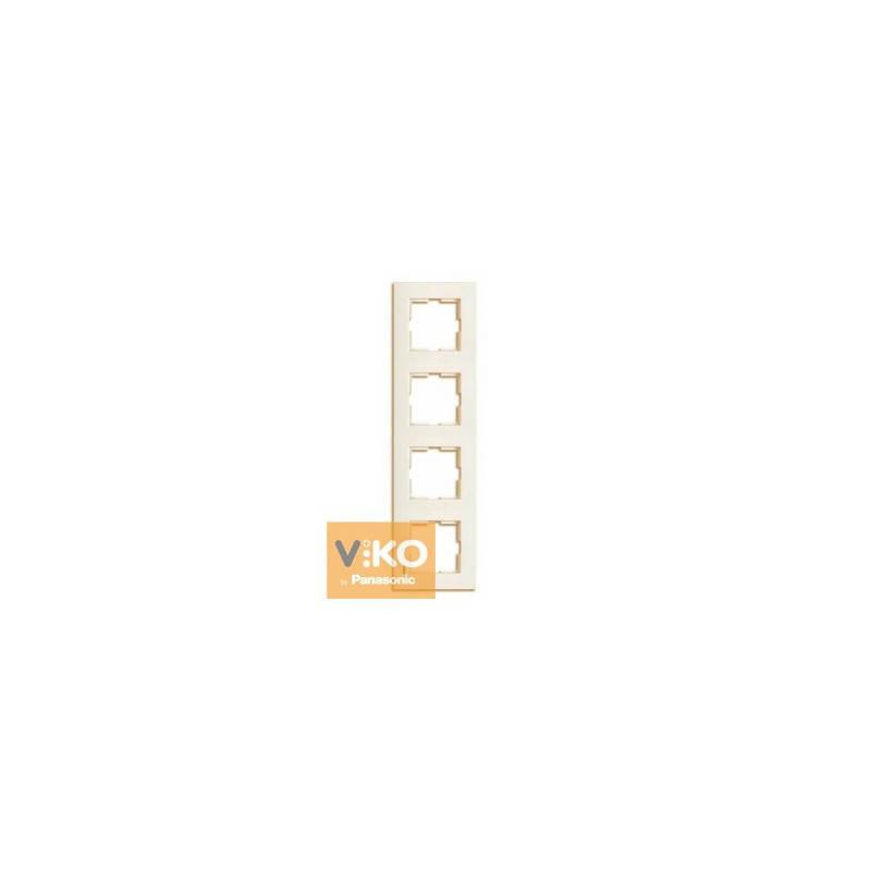 Четверная вертикальная рамка Viko Karre Крем 90960233