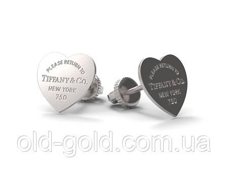 e2c378276c61 Золотые женские пусеты Tiffany