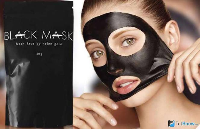 Черная Маска от прыщей и черных точек Black Mask, фото 2