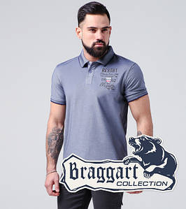 Braggart | Мужская тенниска 17092 серо-синий