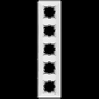 Рамка 5-местная верт Белый Meridian Viko, 90979025-WH