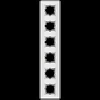 Рамка шестиместная вертикальна белая Viko (Вико) Meridian (90979026-WH)