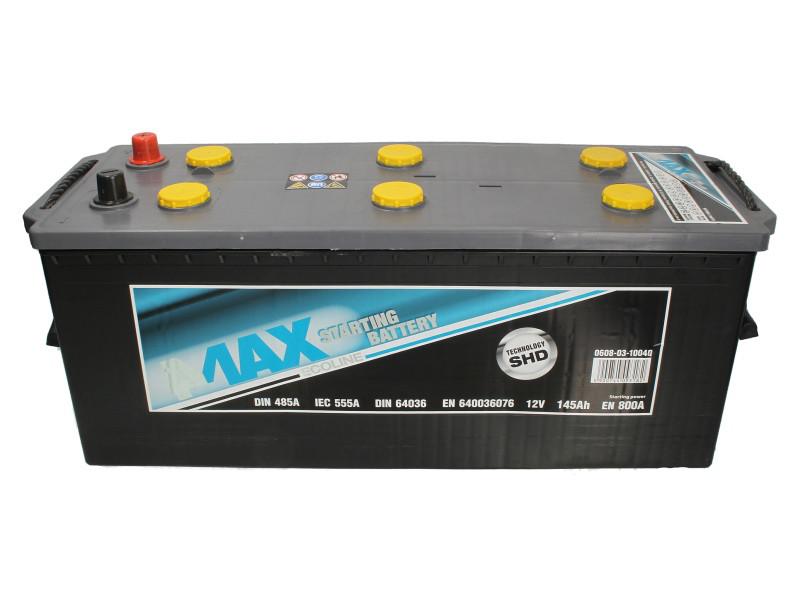 Аккумулятор 4Max Bateries 145Ah/800A L+(3) 513x189x223 B00 Ecoline (140)