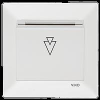 Выключатель карточный Белый Meridian Viko, 90970051-WH