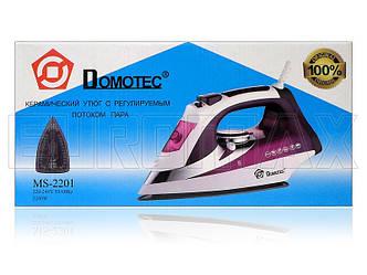 Утюг с керамической подошвой 2200Вт Domotec MS-2201