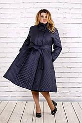 Синее красивое пальто | t0693-3