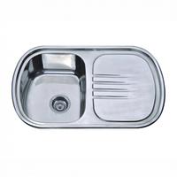 Врезная кухонная мойка Platinum 77*49*18 Decor 0.8 , фото 1