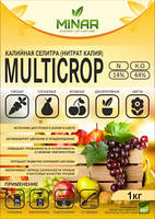 """Водорастворимое удобрение Селитра калиевая """"MultiCrop"""", пакет 1 кг"""