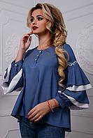 2573/7 Дизайнерская шикарная женская блуза
