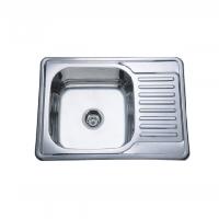 Врезная кухонная мойка Platinum 69*50*18 Decor 0.8 , фото 1