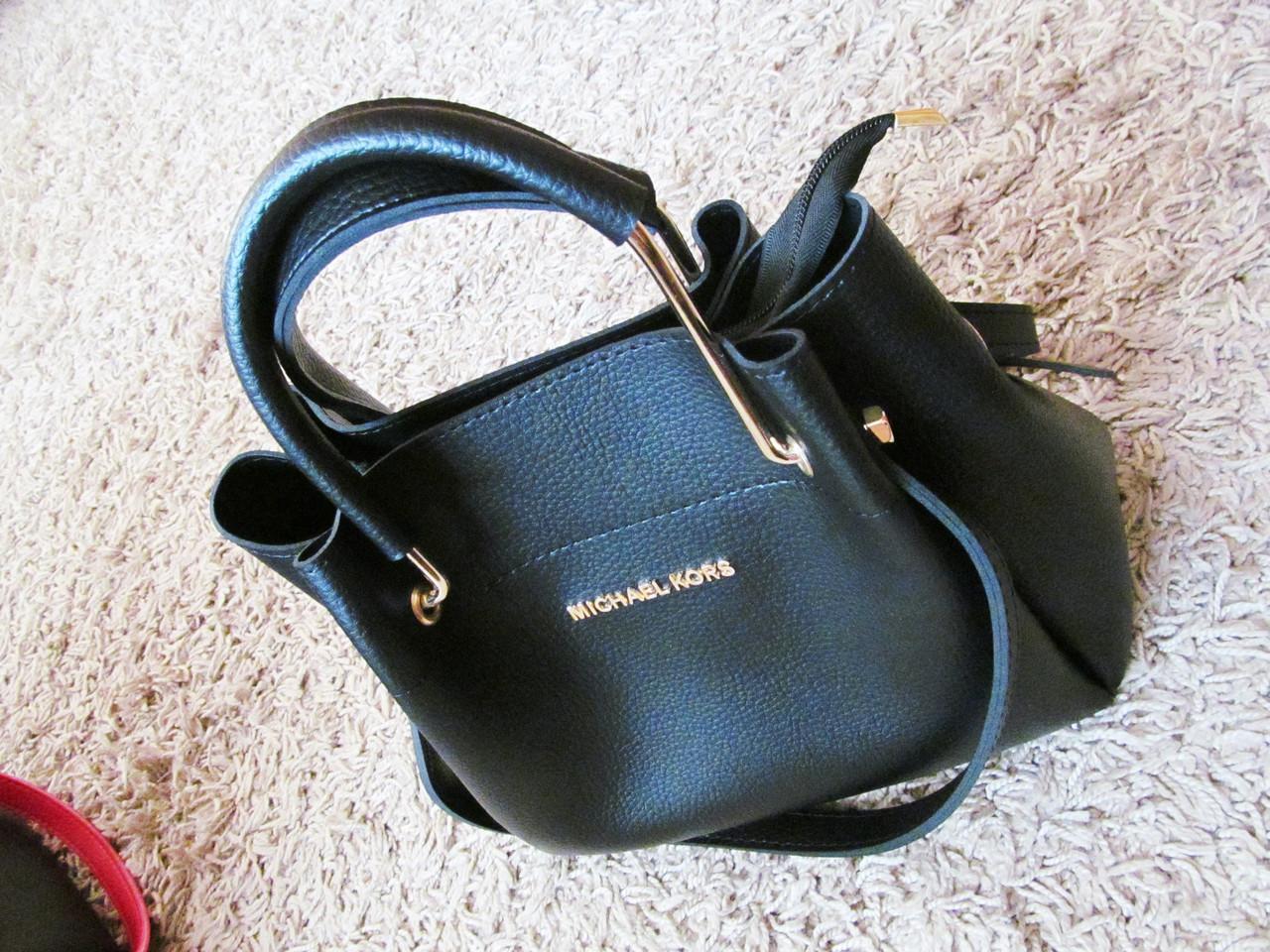 Сумка женская Майкл Корс черная малый размер (реплика)  продажа ... fd82d5aba1a