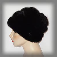Меховая женская шапка из норки (три яруса)