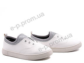 Мокасины детские Violeta (203-10 white-silver) | 8 пар (Код 145258)