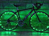 Светодиодная подсветка для велосипеда на спицы, 20 светодиодов  Зеленый