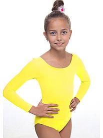 Купальник для гимнастики и танцев хлопок Желтый