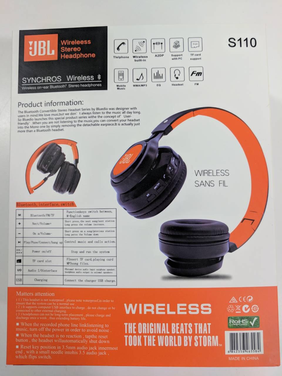БЕСПРОВОДНЫЕ НАУШНИКИ JBL S110 BLUETOOTH   продажа 79386f2a815ab
