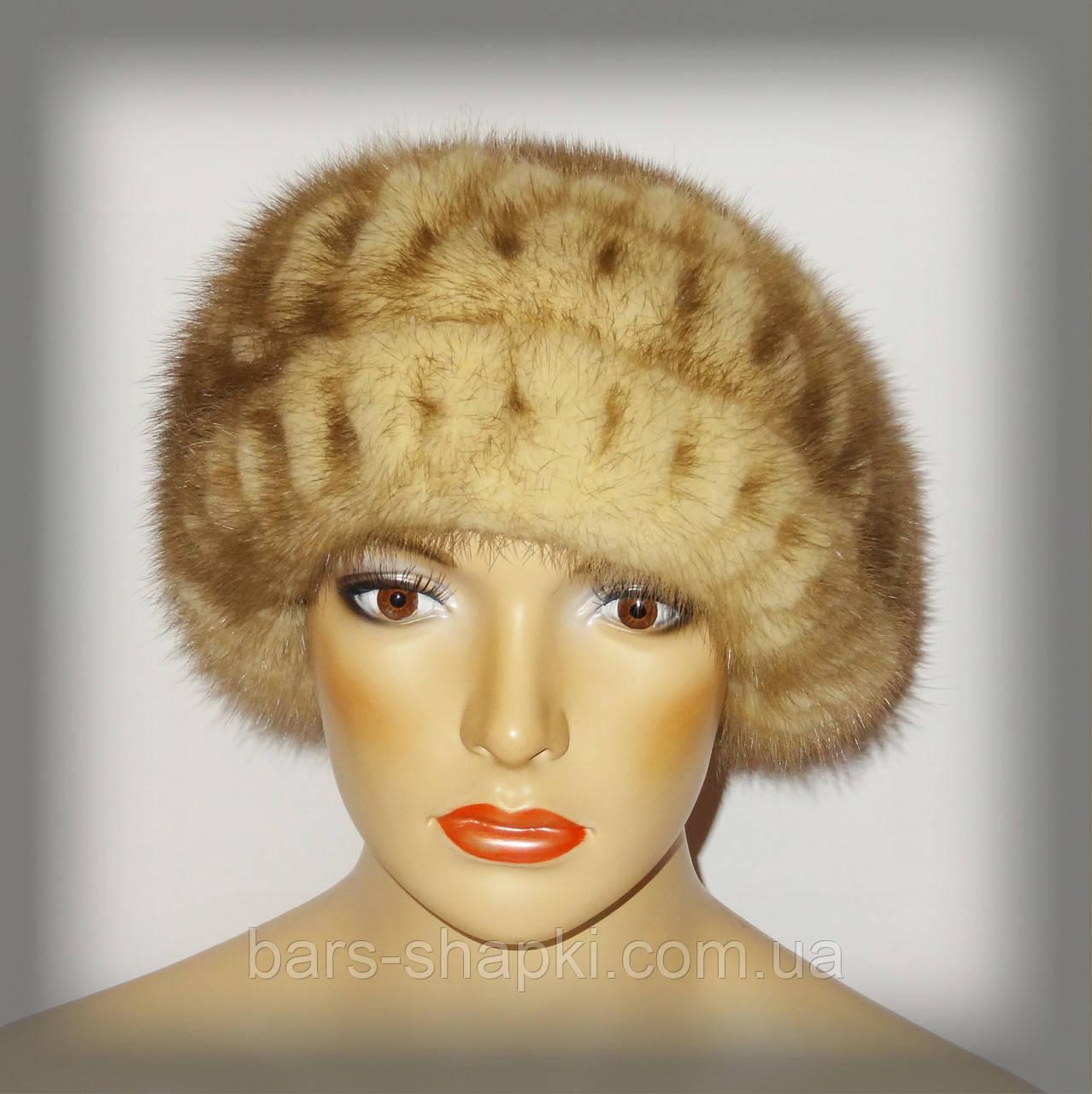 Меховая женская шапка из норки