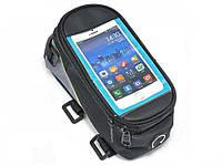 Велосипедная сумка на переднюю раму Roswheel, для смартфонов Размер S Зеленый