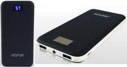 Внешний аккумулятор Powerbank Aspor A386, 12 000mAh