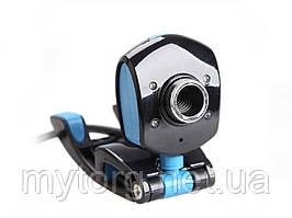 Веб-камера 4 LED HD Webcam USB 2.0 Black and Blue