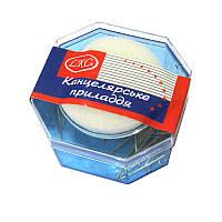 Увлажнитель подушечка для смачивания пальцев LKS поролоновая основа, с булавками LE044