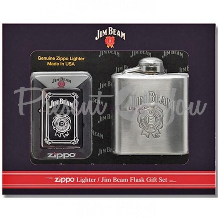 Набор подарочный Зажигалка + фляга Zippo Jim Beam Flask Set (28414)