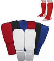 Защита для единоборств/защита голени и стопы тканевая (футы тканевые): 3 цвета