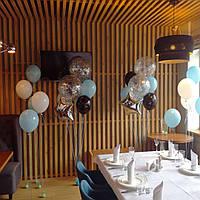 Оформление шарами с гелием, ресторан Рыбой мясо два ножа