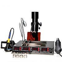 Паяльная станция Yihua 1000B 4в1, преднагреватель плат + инфракрасная лампа + паяльник + термофен, 1475W
