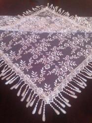 Платок белый, ажурный в церковь, венчальный платок, косынка церковная (PV-75)