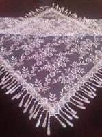 Белый венчальный платок, косынка церковная.