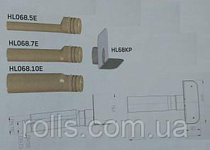 HL68P.0 Парапетная воронка с фланцем из ПВХ и отводящей трубой из ПП