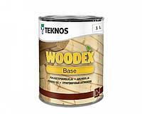 Грунтовка антисептическая TEKNOS WOODEX BASE для древесины 1 л